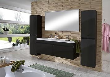 Badmöbel schwarz  SAM® Design Badmöbel Set Parma, Hochglanz schwarz, 4tlg. Designer ...