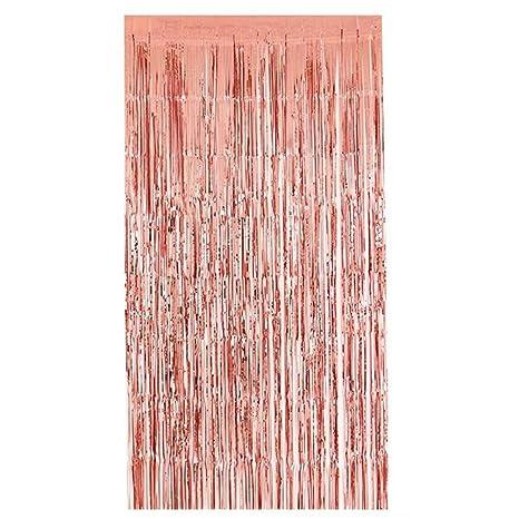 Amazon.com: Yeefant 1 cortina de lluvia de Navidad con borla ...