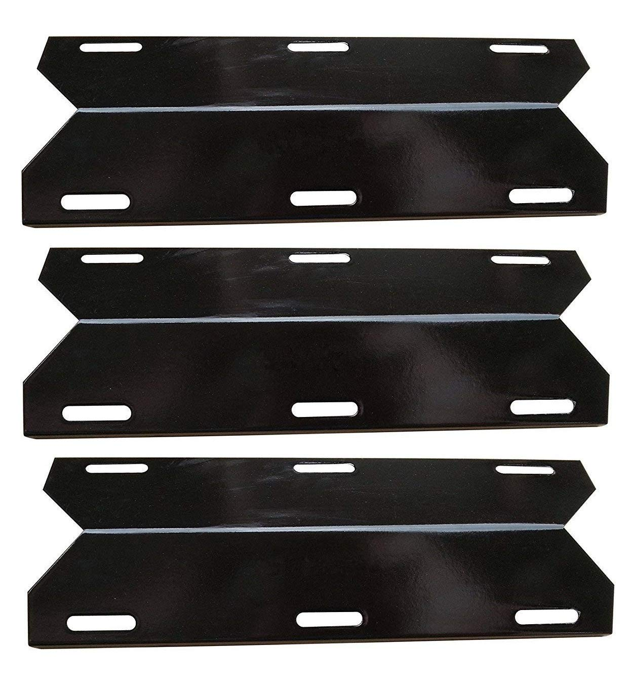 Hongso PPA241 Grill Heat Plate Shield Tent for Charmglow, Nexgrill 720-0230, 720-0036-HD-05 Replacement Parts, 3-Pack 17 1/4 inch Porcelain Steel BBQ Burner Cover Flame Tamer by Hongso (Image #1)