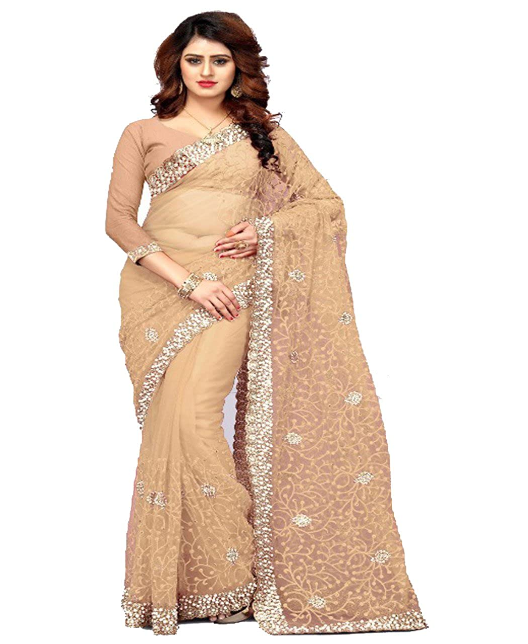 ed32c2c1bb8 Bollywood Craze Latest Designer Embroidery Saree New Arrival Collection  2018 For Special Women Party Wear With Blouse Piece  Amazon.in  Clothing    ...
