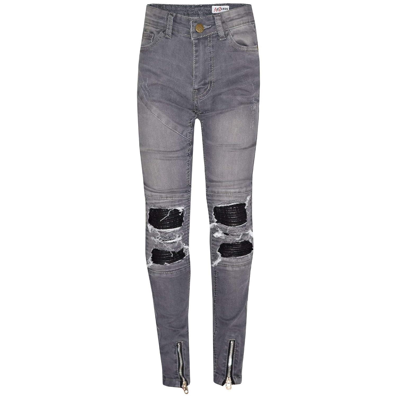 Amazon.com: A2Z - Pantalones vaqueros elásticos para niñas ...