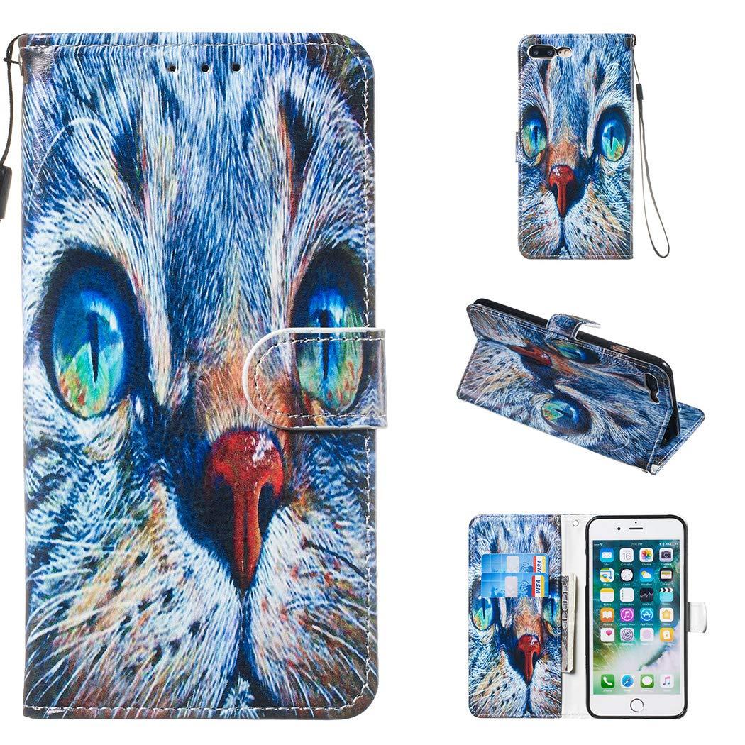 CoqueCase Funda para iPhone 8 Plus Libro Cuero PU Tapa Flip Case ...