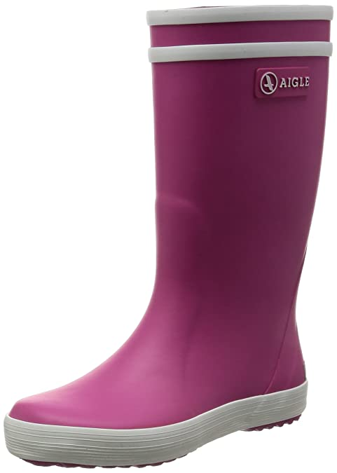 bbd9dfafe La Redoute Aigle Boys And Girls Lolly-Pop Rubber Wellington Boots Pink Size  28