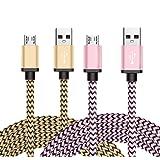 Micro USB Kabel Nylon, BeneStellar (2 Pack 1,8m) High Speed USB 2.0 A Male auf Micro B Synchronisations und Ladekabel für Android, Samsung, Huawei, HTC, Sony, Nexus, Xiaomi und mehr (Rosa & Golden 1,8m)
