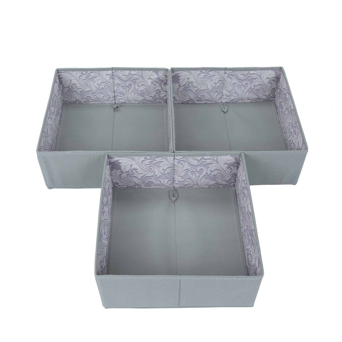 Amazon com sbs fabric dresser drawer closet organizer boxes cubes bins store socks ties underwear gloves bras tights bibs and diapers spanish gray