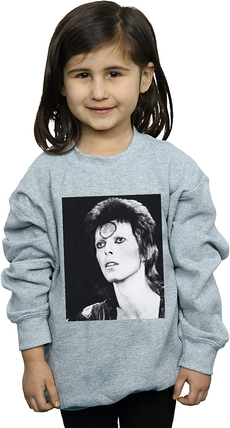 ABSOLUTECULT David Bowie Girls Ziggy Looking Sweatshirt