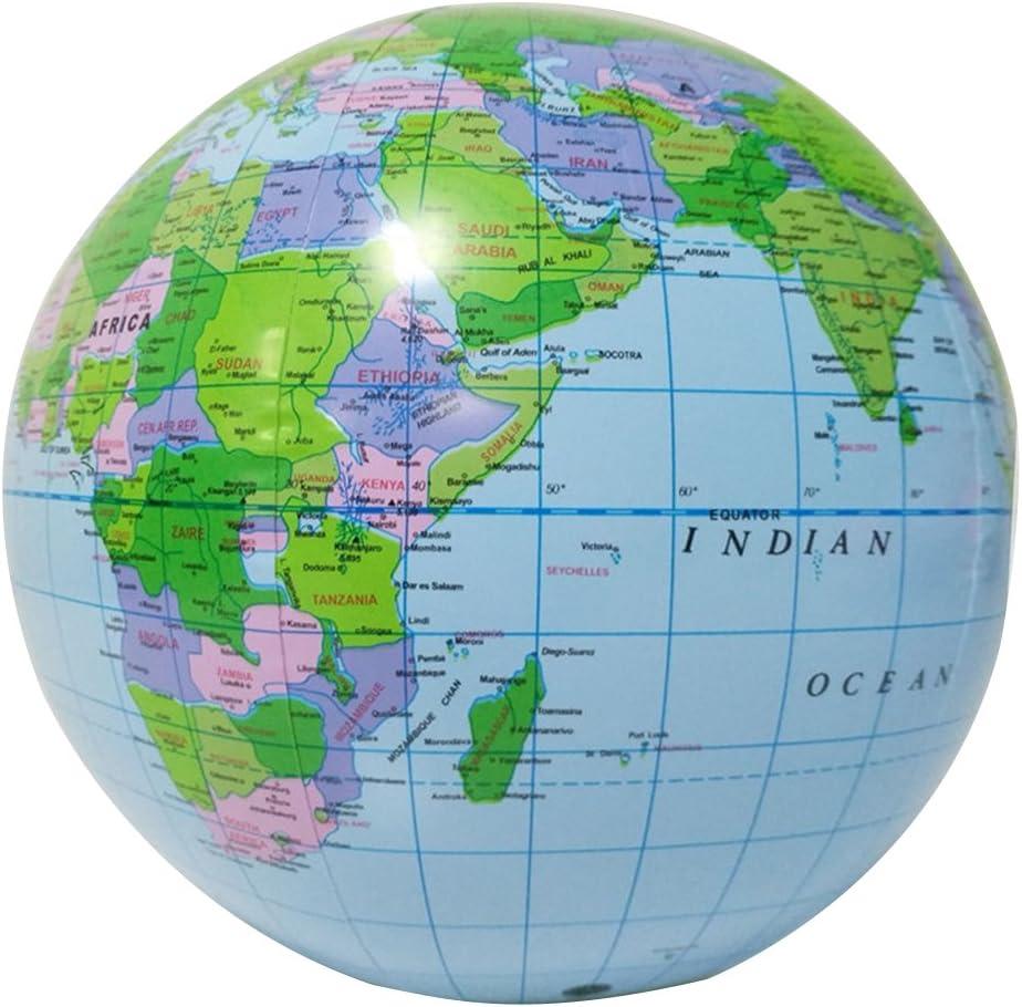 Yeahibaby Globo Inflable Globo Mapa de la Tierra Educativo Playa ...