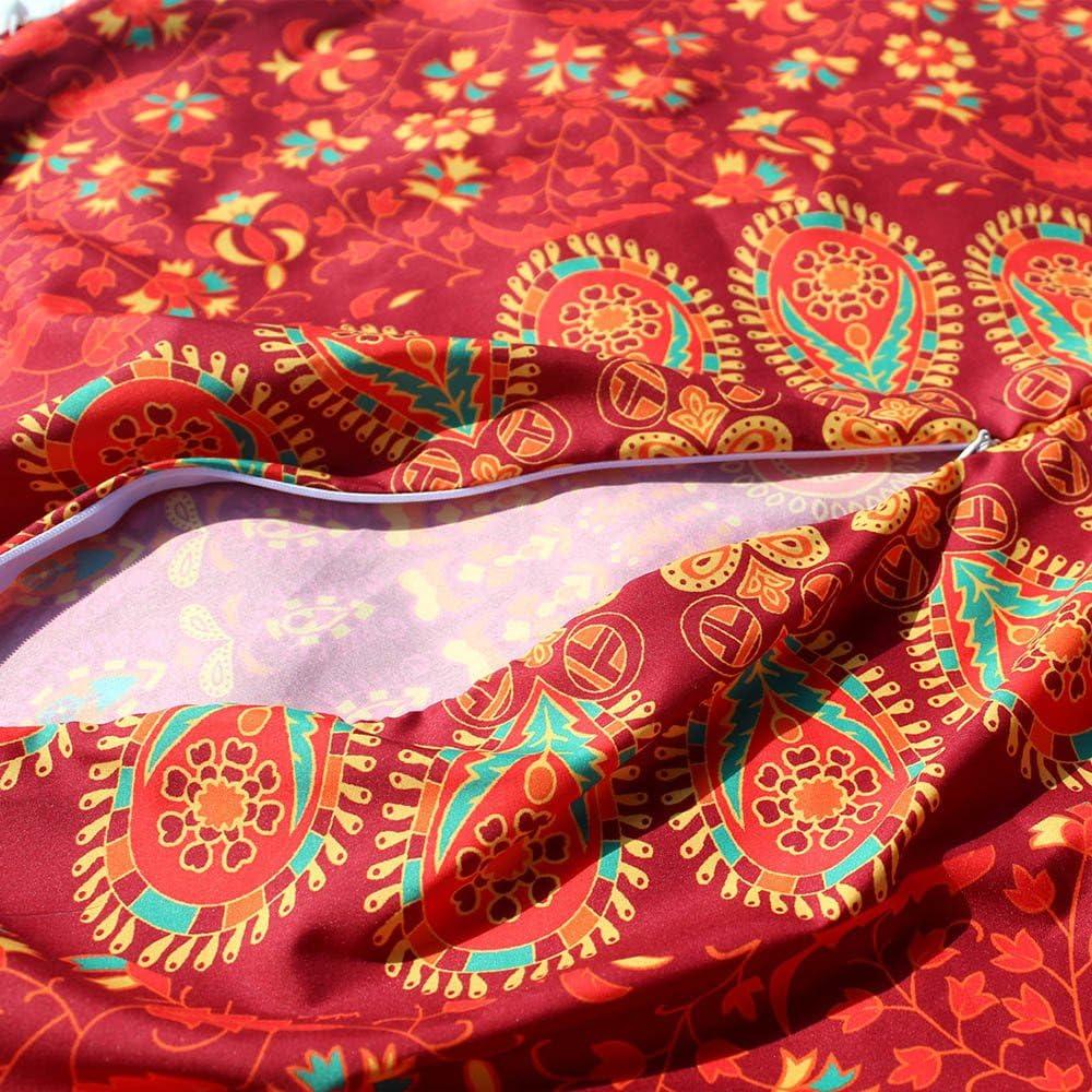 Prime  Day,COUNTSTAR/Coussin Grand Coussin de Sol en Mandala Rond Housse de Coussin de m/éditation boh/ème Pouf Ottoman Orange