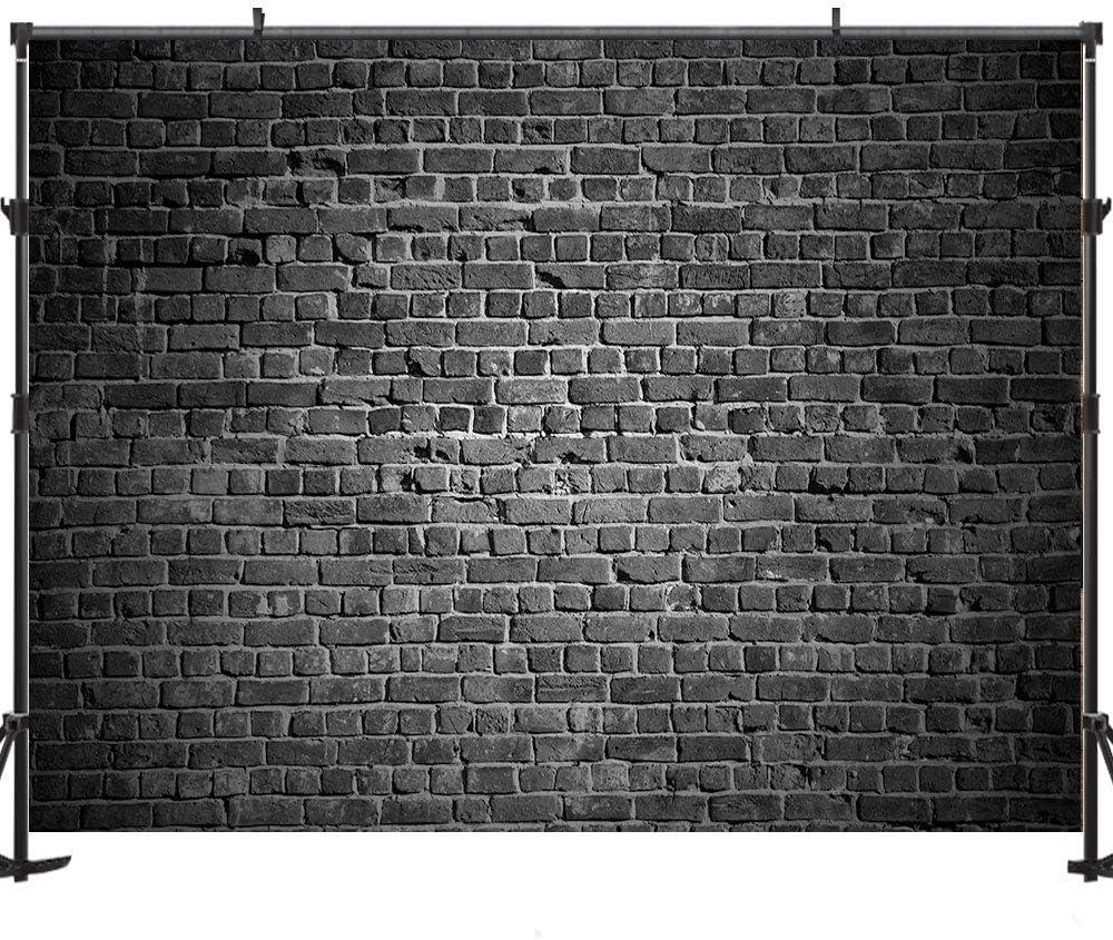 Allenjoy 5x3ft Black Brick Backdrop Brick Backdrops for Birthday Party Brick Wall Photography Props Decoration for Party Birthday Party Backdrop