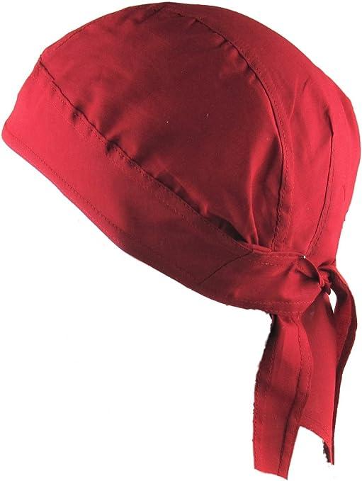 Bandana pañuelo para la cabeza pre atada rojo: Amazon.es: Deportes y aire libre