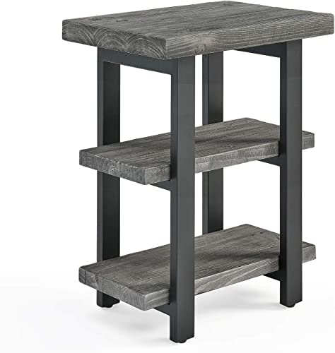 Sonoma Metal and Reclaimed Wood 2-Shelf End Table
