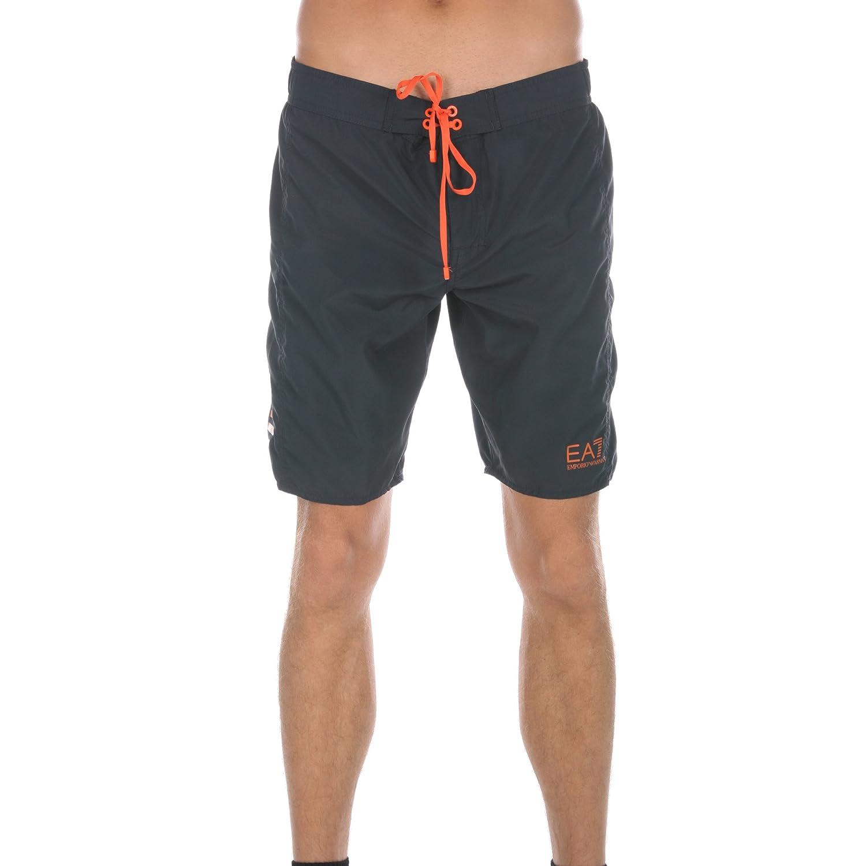 Emporio Armani EA7 Herren Men Badeshorts Badehose Beachwear Dunkelblau Dark Blau