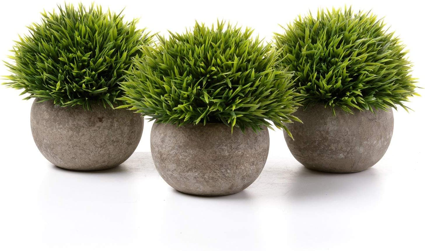 T4u 5 Inch Fake Artificial Potted Grass Plants Small Green Pack Of 3 Home And Office Decoration Desktop Windowsill Bonsai Indoor Gift For Wedding Birthday Christmas Green Amazon Ca Home Kitchen
