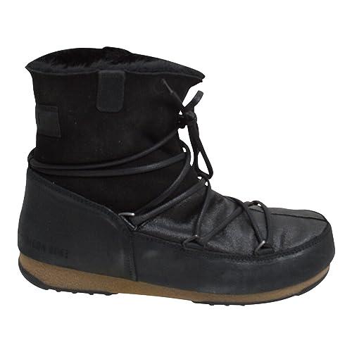 Piel Mujer De Botas Talla Negro Boot Moon NegroColor Para JKTlFc1