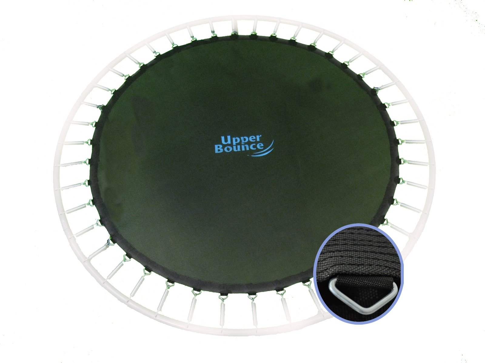 Trampoline Replacement Jumping Mat, fits for 14 FT. Round Frames with 72 V-Rings, Using 7'' Springs -MAT ONLY