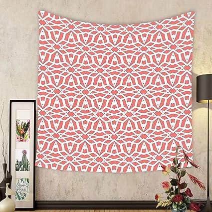 Amazon.com: Gzhihine Custom tapestry Coral Decor Tapestry Fractal ...