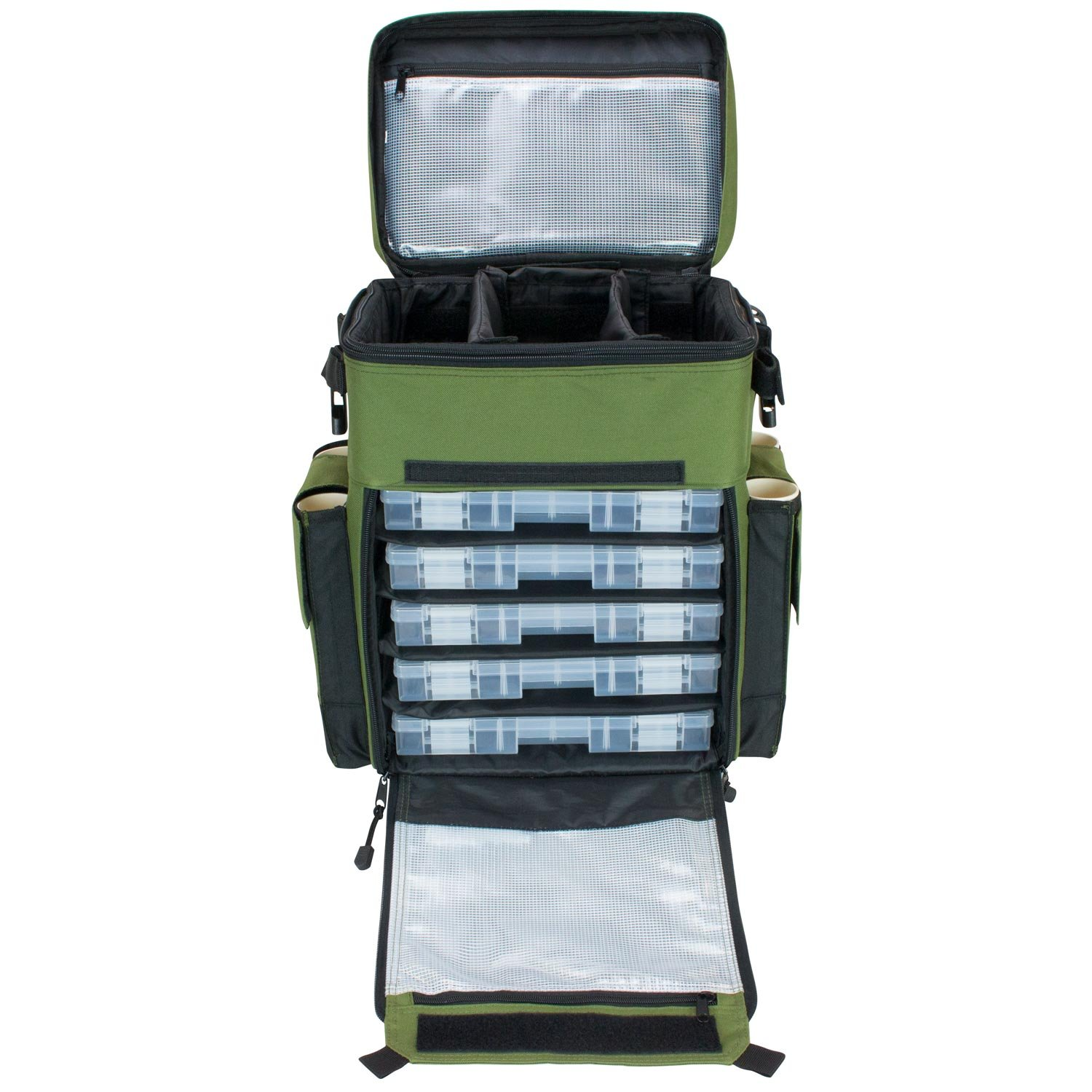 Amazon.com  Elkton Outdoors Rolling Tackle Box Green / L 15.7 x W 9.6 x H 18.5 inches / 11 pounds / Waterproof / 5 Retractable Compartments / 4 Rod Holders ...  sc 1 st  Amazon.com & Amazon.com : Elkton Outdoors Rolling Tackle Box Green / L 15.7 x W ... Aboutintivar.Com