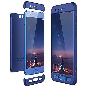 CE-Link Funda Huawei Honor 9, Carcasa Fundas para Huawei Honor 9, 3 en 1 Desmontable Ultra-Delgado Anti-Arañazos Case Protectora - Azul