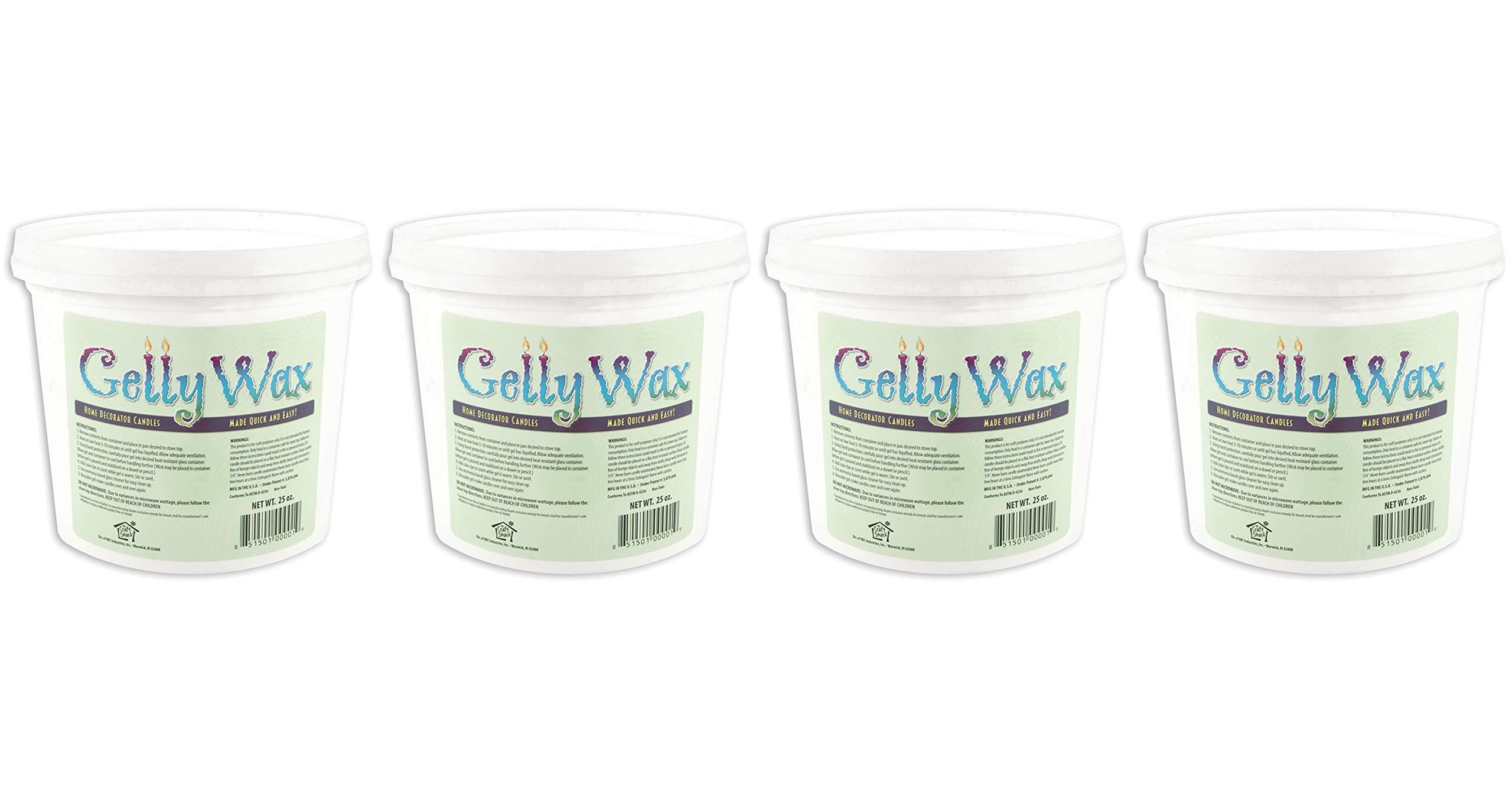 Gelly Candle Wax, 25-Ounce, Clear (Fоur Расk)