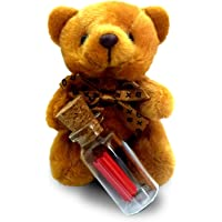 exciting Lives Teddy with Happy Rakhi Message Bottle 7 x 7 x 7 cm