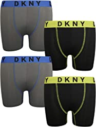 DKNY Boys Active Performance Boxer Brief Underwear, (4 Pack)