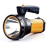 ALFLASH Linternas LED de alta potencia Linternas recargables para acampar 7000 lúmenes Linterna táctica Impermeable Foco super brillante Reflector portátil(Oro)