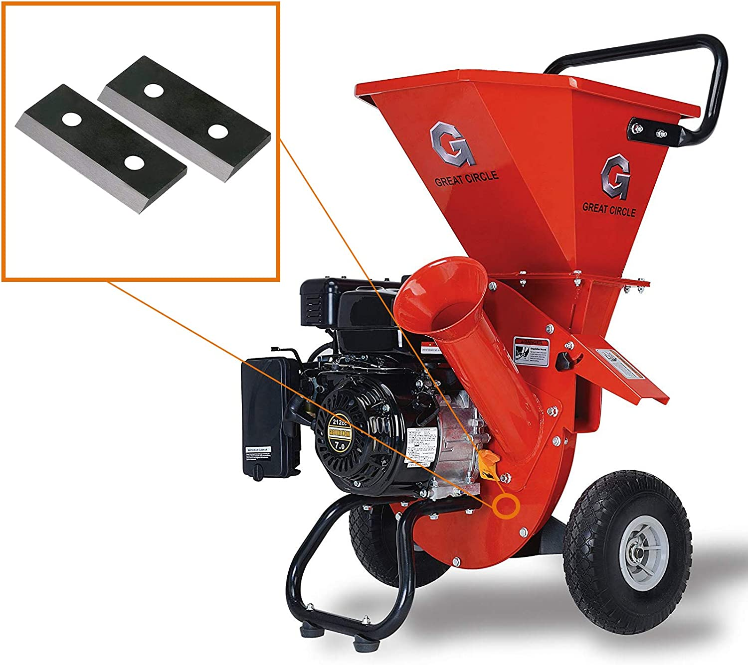 Gas-Powered Wood Chipper Shredder by GreatCircleUSA
