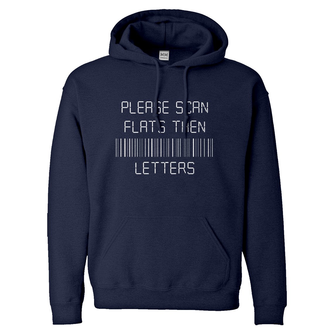 Indica Plateau Please Scan Flats Then Letters Unisex Adult Hoodie