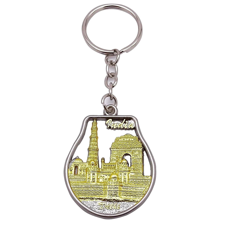 Amazon.com  Indian Keychain Brass Key Ring Beautiful Keyfob Metallic Gold  Car Keyring Gift  Home   Kitchen 75f43502c