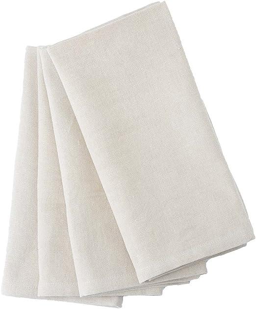 reuseit Servilletas de algodón orgánico, reutilizable, 4 unidades ...