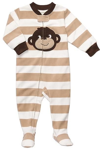 4380c371c021 Amazon.com  Toddler Footed Fleece Sleeper - Monkey-4T  Infant And ...