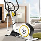 Fit Elliptical Machine Trainer - JOROTO ME20 Exercise Bike Cardio Fitness Home Gym with Heart Rate Monitor