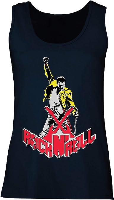 lepni.me Camisetas sin Mangas para Mujer Rock and Roll para Siempre, Conjunto de Concierto de la Banda de Rock.