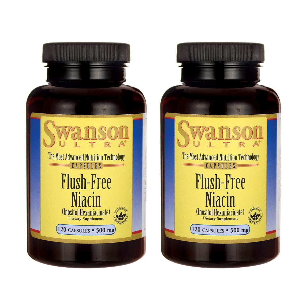 Swanson Flush Free Niacin 500 Milligrams 120 Capsules 2 Pack