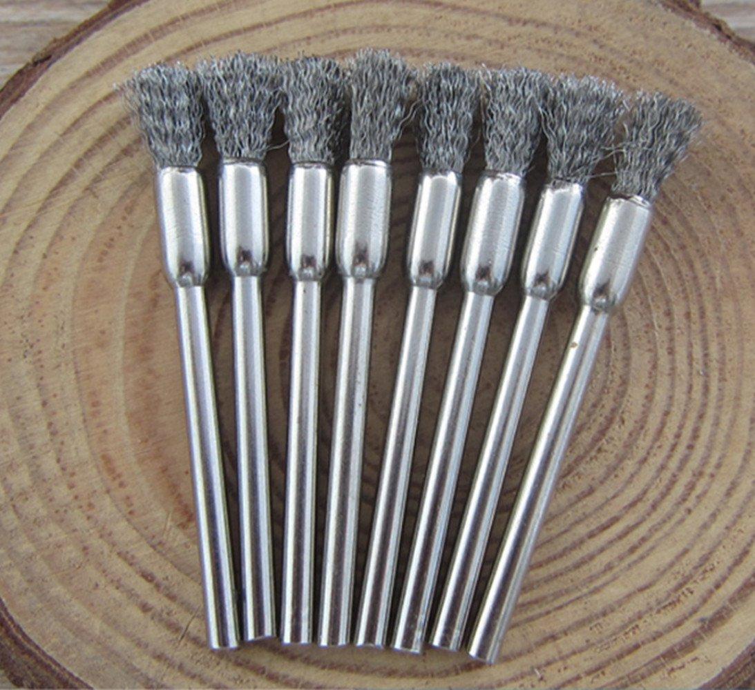 Dekpro Lot de 3en acier inoxydable Brosse de nettoyage pour fil Vape Bobine Atomiseur RDA, 3PCS Set, 3