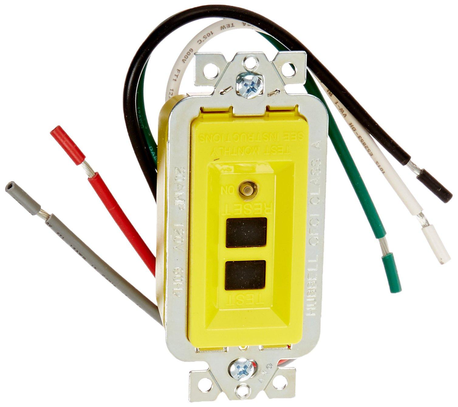 Hubbell GFM20 GFCI Module, 20 amp, 120V, Yellow