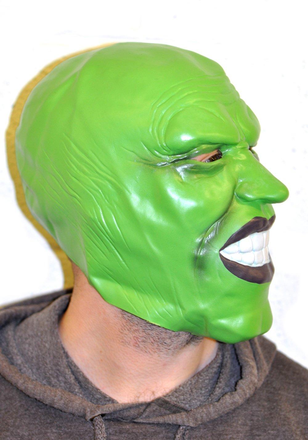 Jim Carrey The Mask Style Green Latex Mask Halloween Fancy Dress ...