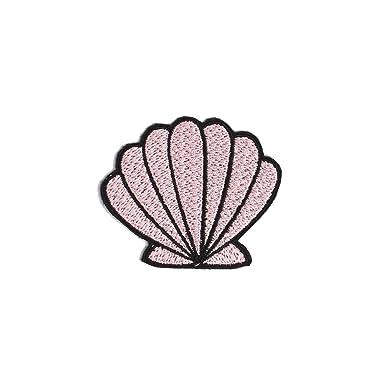 Pink Shell Patch Iron On Badge Gift Tumblr Cute Kawaii Mermaid