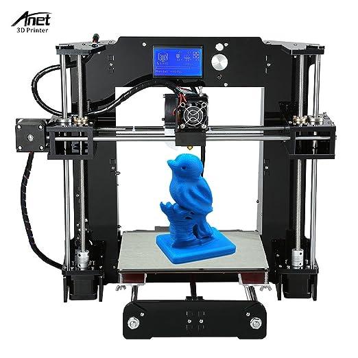 KKmoon Alta Precisione Grande Taglia Desktop Stampanti 3D Corredi ai da te Auto Assemblea Schermo LCD con 16GB Scheda SD Stampa Taglia 220 * 220 * 250 mm Sostegno ABS/PLA/HIP/PP/legno Filament