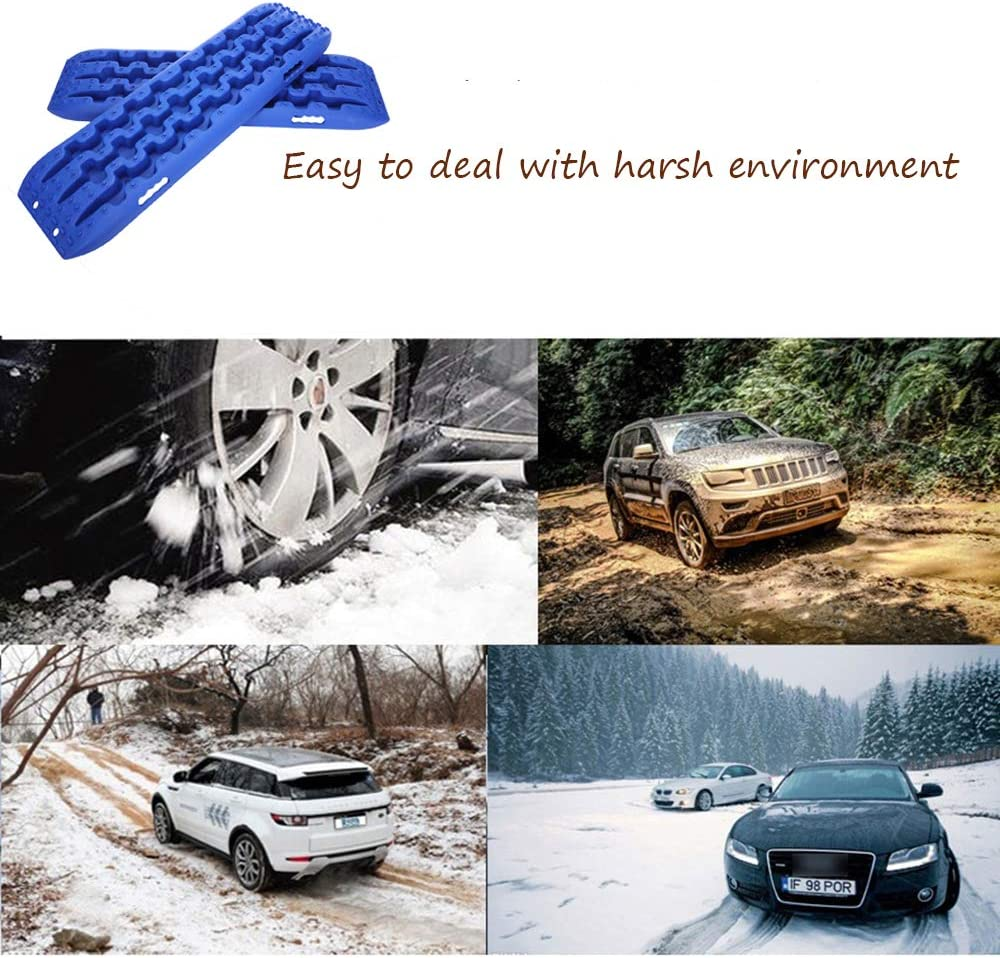 Car Truck 4X4 Van Homeon Wheels Traction Tracks Boards Emergency Tire Grip Aids Recovery Track Mat for Sand Mud Snow Vehicle
