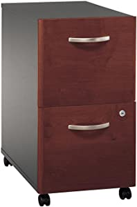 Bush Business Furniture 2-Drawer File, Hansen Cherry/Graphite Gray
