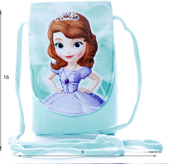 HC Toys LLP | Rapunzel Princesses Soft Canvas Material Sling Bag for Girl Children Casual Purse | Green