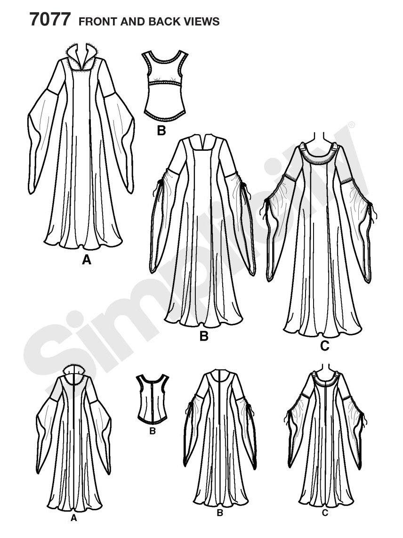 Simplicity s7077.n5 Schnittmuster Kostüm für Frauen: Amazon.de ...