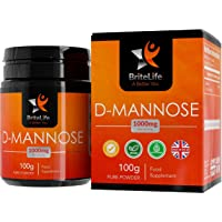D Mannose Pure Powder (100g), UTI Urinary Tract & Water Infection Cleanse   ADDITIVE Free Treatment for Cystitis Relief   Supports Prostate Bladder & Kidney Health   100 Day Supply, 1000mg per Serving