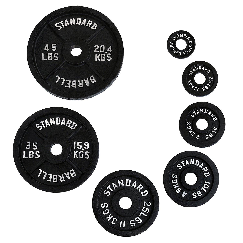 ADER Olympischen schwarz Teller Set, (0,5 kg, 1,25 kg, 2,5 kg, 5 kg) 4 Paar