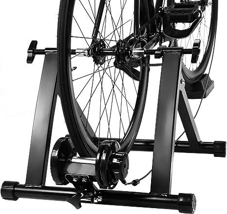 COSTWAY Rodillo Magnético Entrenamiento Bicicleta de Acero ...