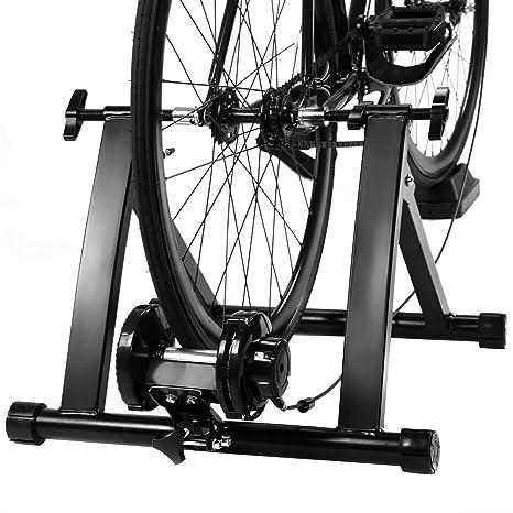 COSTWAY Rodillo Magnético Entrenamiento Bicicleta de Acero con 5 ...
