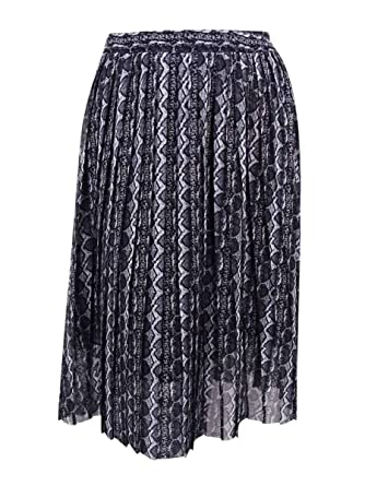 c5fba962f9a Image Unavailable. Image not available for. Color  RACHEL Rachel Roy Womens  Plus Chiffon Snake Print Pleated Skirt ...