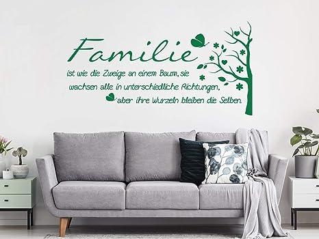 Grazdesign Wandtattoo Familie Mit Wandspruch Und Baum Wand Aufkleber Fur Wohnzimmer Wand Spruche 78x40cm 071 Grau Amazon De Kuche Haushalt