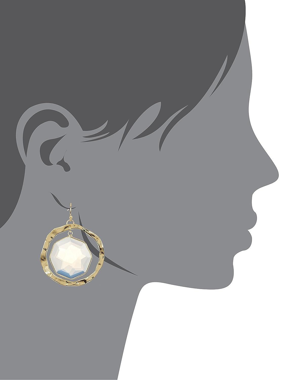 Moonstone Framed Orbit Wholesale Gemstone Fashion Jewelry Drop Earrings